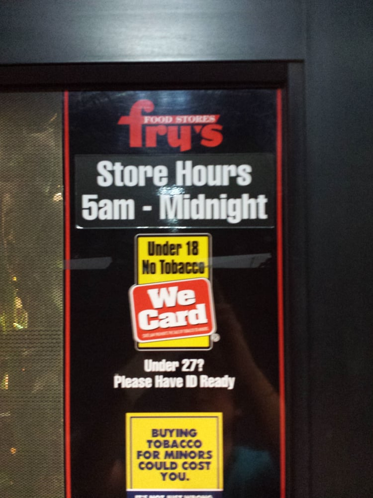 Fry S Food Store Hours Today