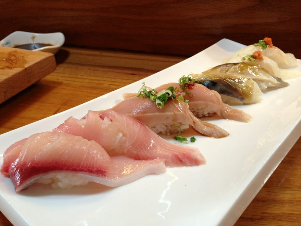 Yellowtail Belly Sushi Yellowtail belly  Albacore