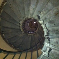 Spiral staircase up the monument.