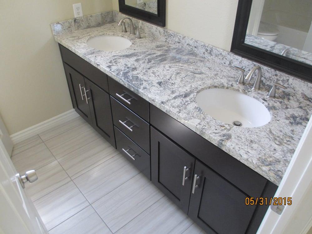After shaker espresso cabinet with romanix granite and for Romanix granite