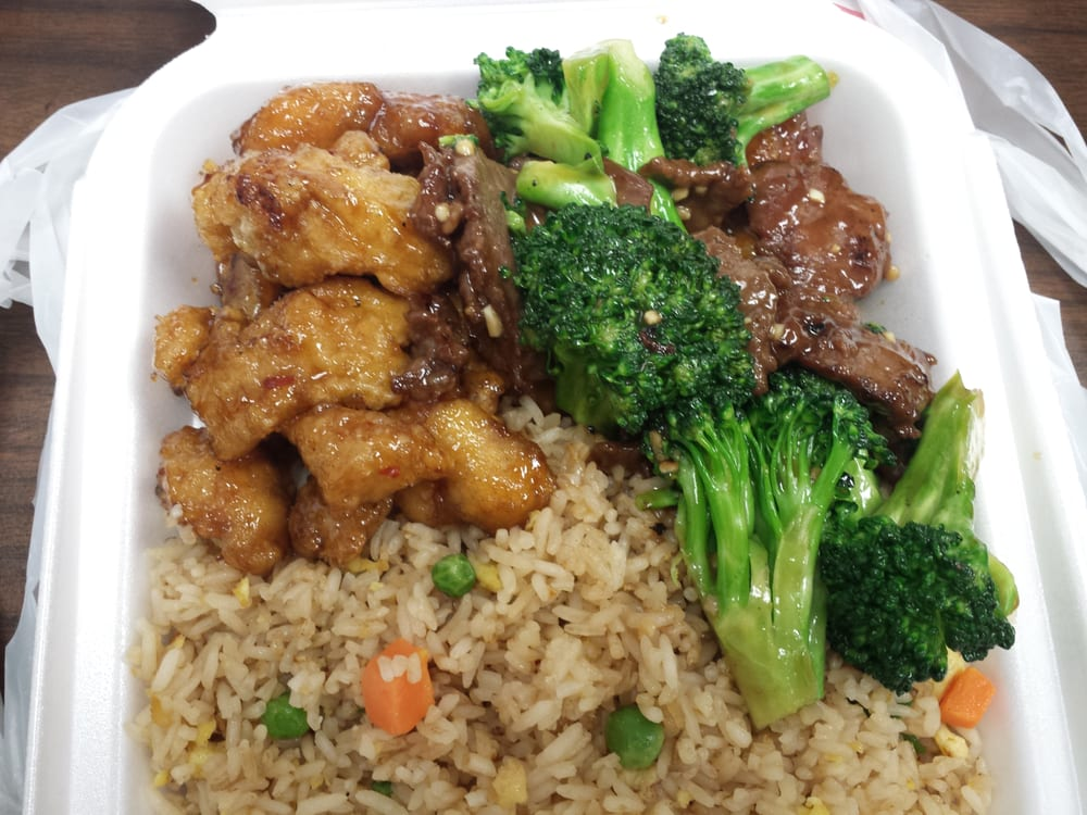Orange Chicken, Broccoli Beef, and Fried Rice. | Yelp