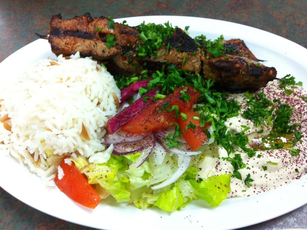 Beef Kabobs Plate Beef Shish Kebab Plate