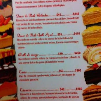 Happy Cake Cancun Menu
