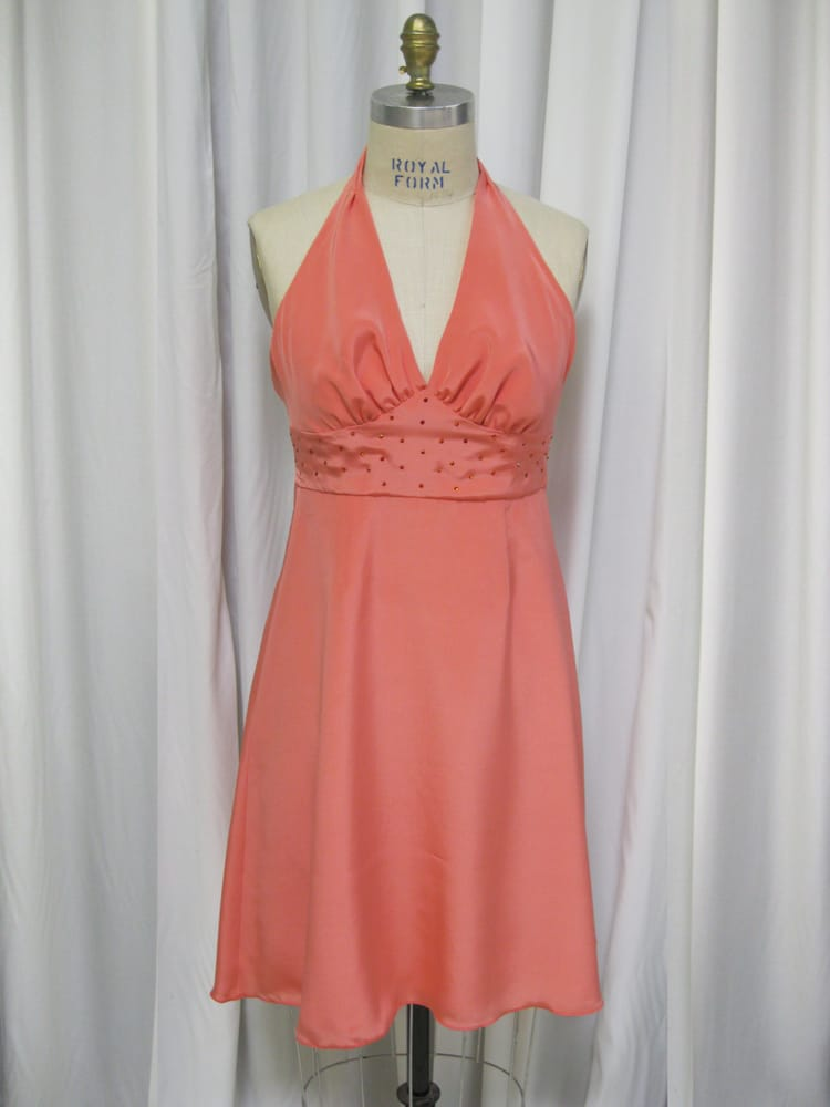 Custom Coral Mother Of The Bride Dress Yelp
