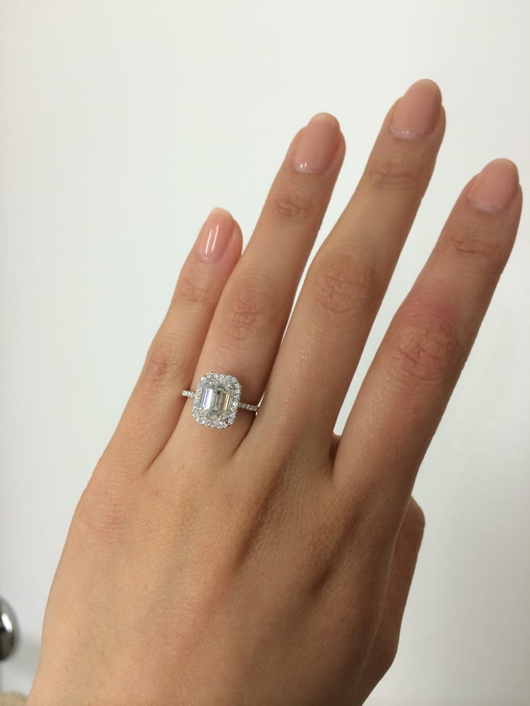 Your beautiful engagement ring Emerald cut engagement rings australia