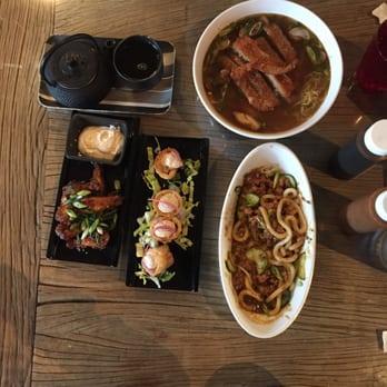 ... cheddar, and horseradish dumplings, udon bolognese(AMAZING) and ramen
