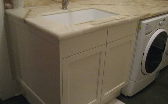 Hawthorne basement remodel. A fine looking laundry room sink. Yelp