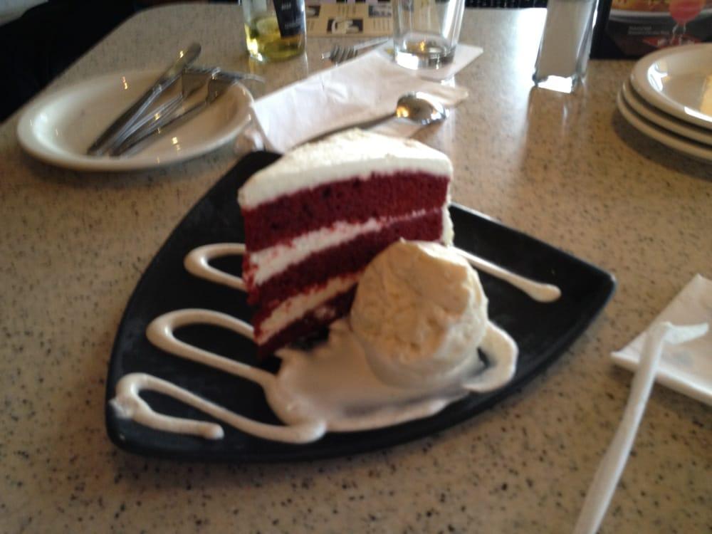 Red Velvet Cake With Haagen Dazs Ice Cream Yelp