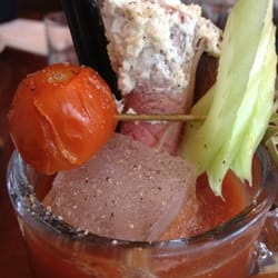 Meaty Mary: tomato juice, spices and…