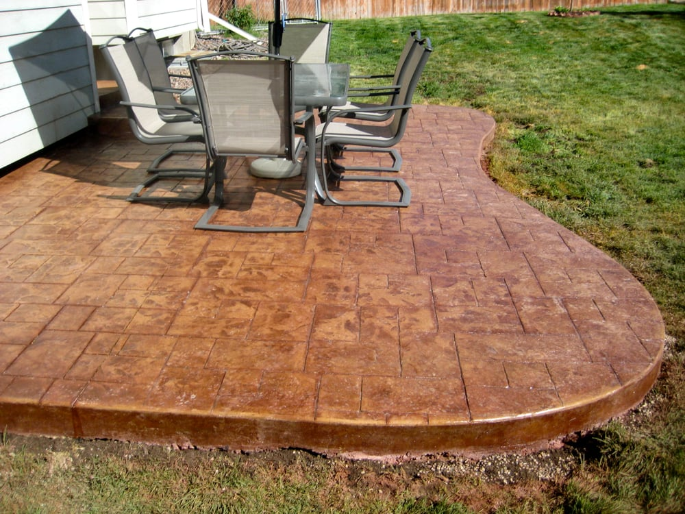 Decorative Stamped Stained Concrete Patio Yelp