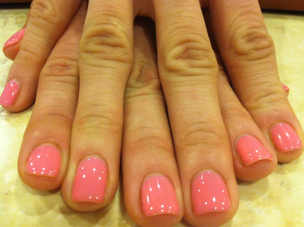 Washington, DC, United States. Rosebud shellac gel manicure by Lani