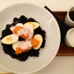 Black rice, coconut milk, banana and…