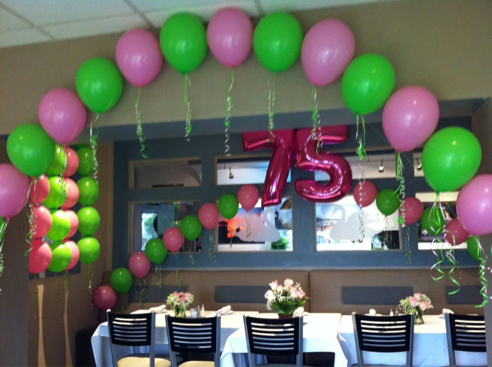 75th birthday party decorations at danversport yacht club