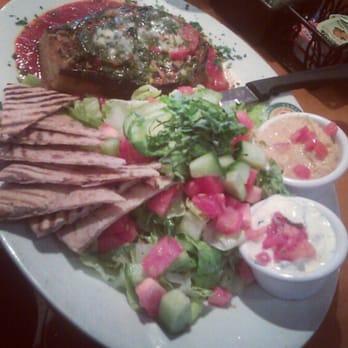 Caprese di Parma Panini with Mediterranean Greek Salad. Yummy!