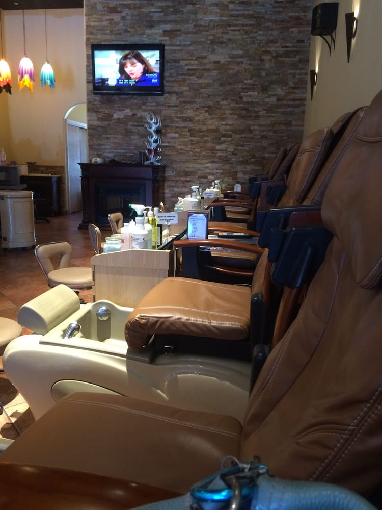 Galaxy nails spa nail salons business parkway - Hair salon albuquerque ...