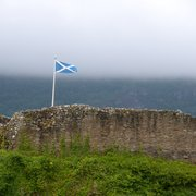 Saltire flying