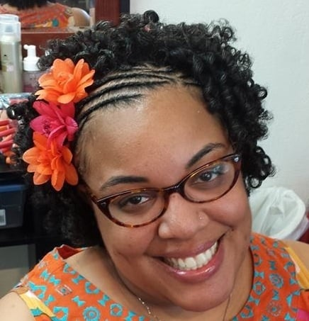 My birthday hairstyle cornrows flexi rod set by for A touch of heaven salon