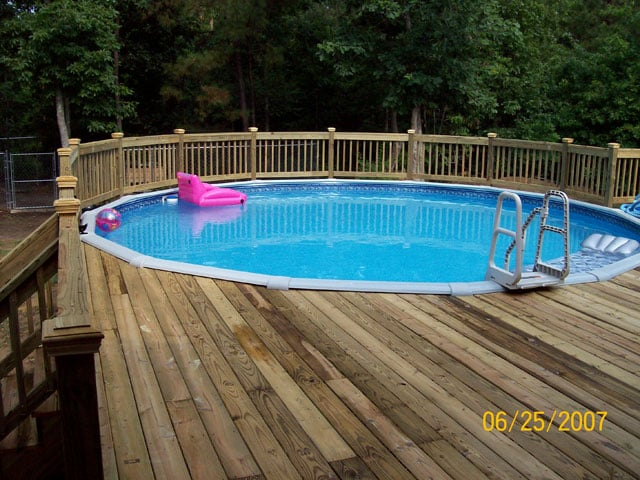 Deck Around Above Ground Pool Yelp