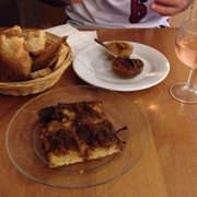 The onion focaccia, rose and croutons…