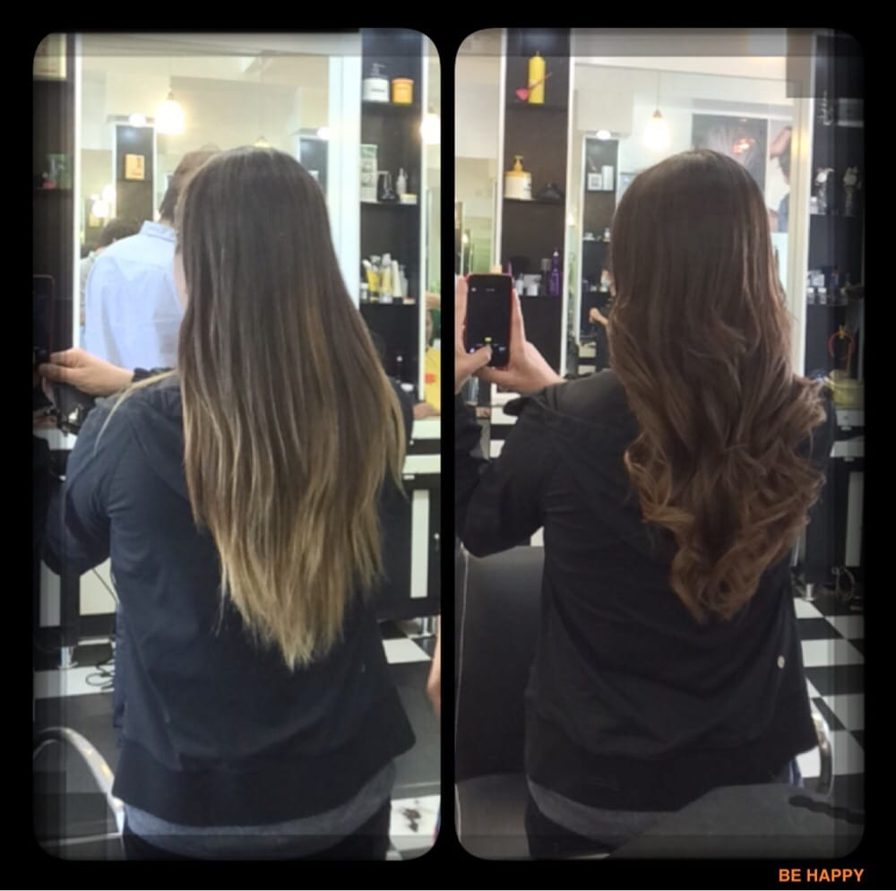 Ombr by irene from faded blonde back to brunette kept - Expressions hair salon ...