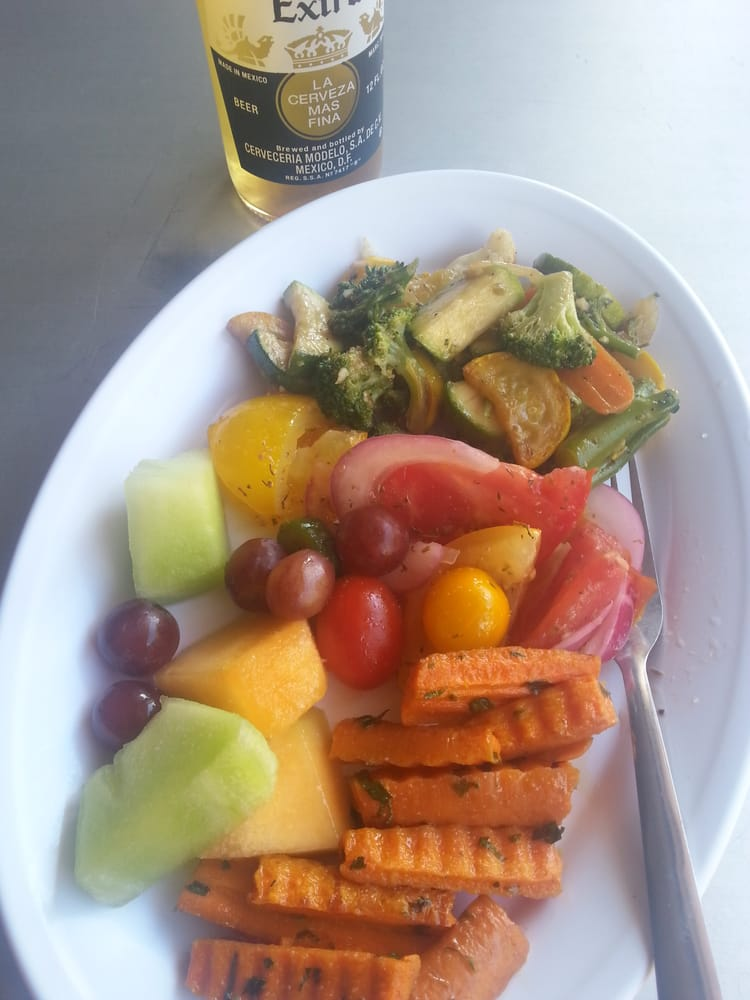 All Veggies And Fruit Tonight Yum Oh And Something To Wash Things Down Yelp
