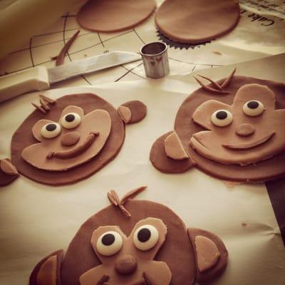 Preparing Fondant Monkeys For A Baby Shower Cake Yelp