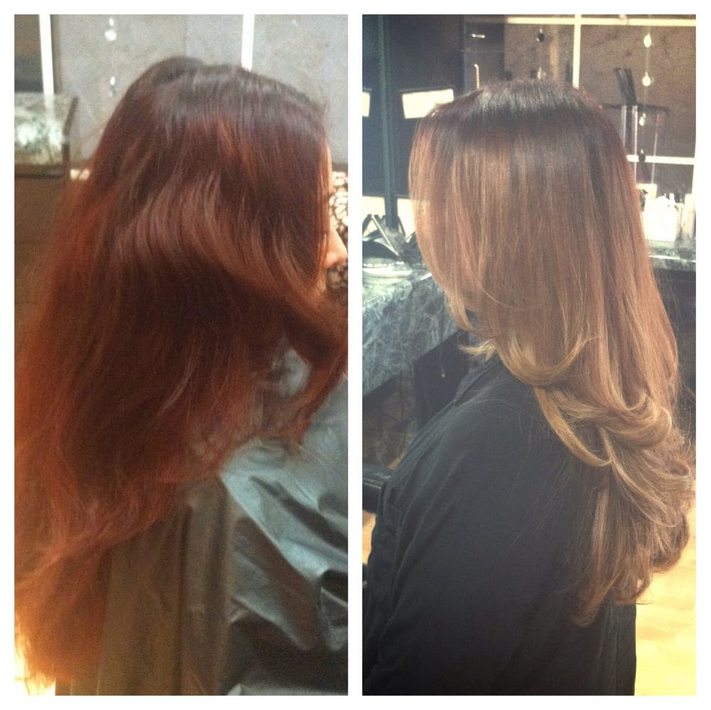 Before Amp After Color Correction Ombr Cut By Jacqueline M  Yelp