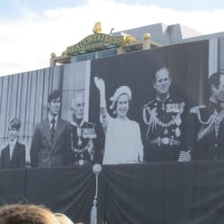 cool view of the 100-metre-wide photograph of the Royal Family towering over the River Thames to celebrate the Diamond Jubilee
