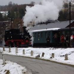 In Steinbach - die Lok wird umgehangen