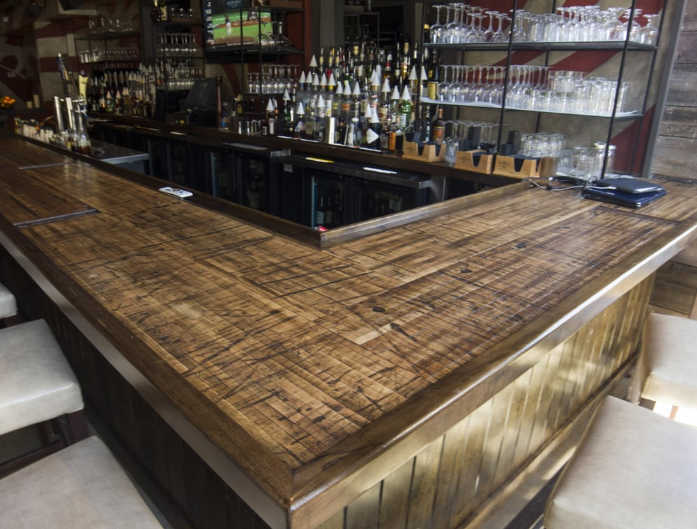 Boxcar Planks Make Great Bar Counter And Table Tops