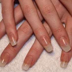 Acrylic Extensions with a natural tip