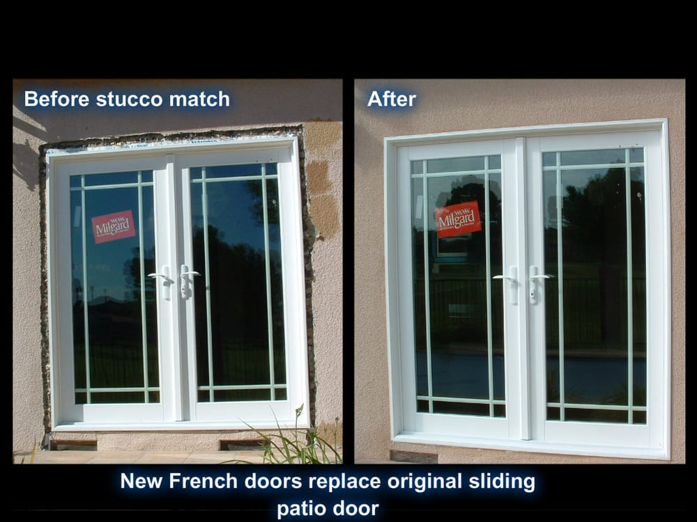 Milgard nail on in swing french doors with perimeter 9 for French doors without windows
