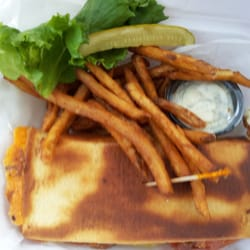 Trepanier's Backyard Grill & Bar - Not just a sandwich to go, it is a thing of beauty - Fond Du Lac, WI, Vereinigte Staaten