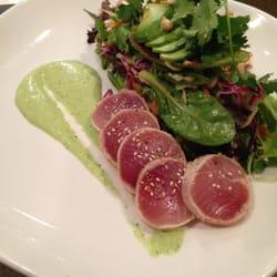 ... tuna salad. rare ocean wise albacore tuna with edamame beans, avocado