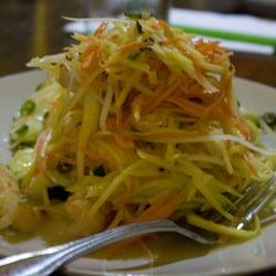 Aqua malaysian thai cuisine green papaya salad for Aqua malaysian thai cuisine