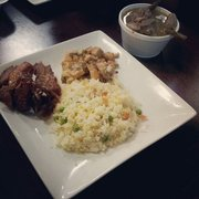 T2 Filipino Fusion - Seasoned pork and sisig with fried rice - National City, CA, Vereinigte Staaten