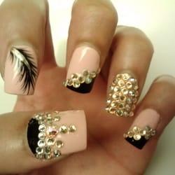 Blue diamond nails ontario ca united states jpg 250x250 Blue nails with diamonds