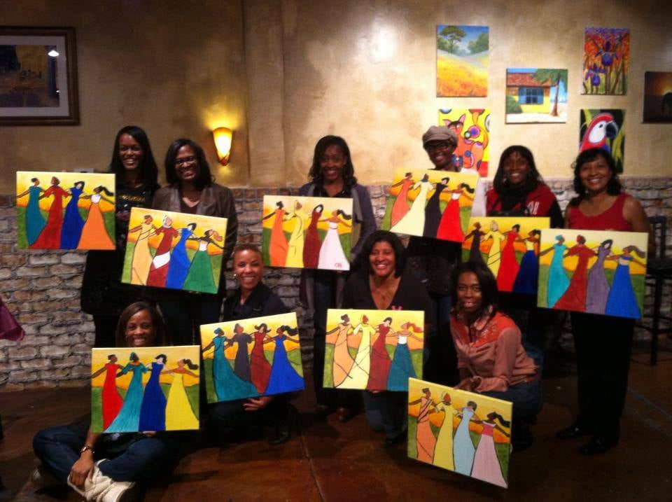 have a great night out with friends byob painting classes