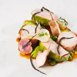 Roasted Rabbit Fillet with Braised Leg