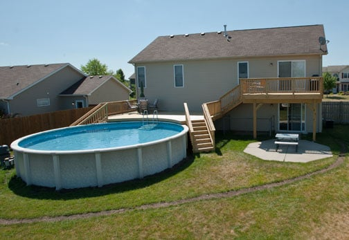 McHenry (IL) United States  City pictures : Rock Solid Builders McHenry, IL, United States. Small wood pool deck ...