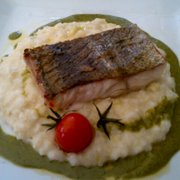 arctic char on a bed of risotto…