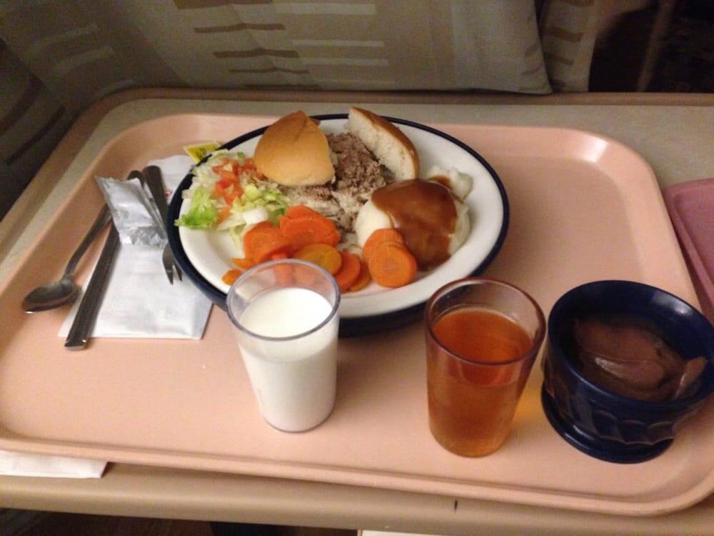 Pureed hospital food