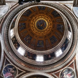 The dome of the Chigi Chapel by Raphael...