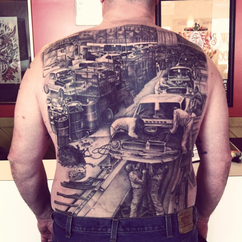 Tattoo by joe johns awarded mort realistic at the motor for Detroit tattoo shops