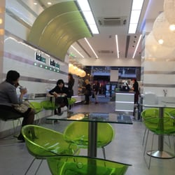 Like having lunch in a futuristic space…