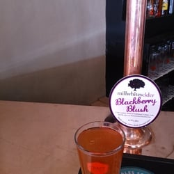Mill whites cider, blackberry blush.