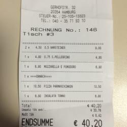 La Prego Rechnung vom 09.08.2014
