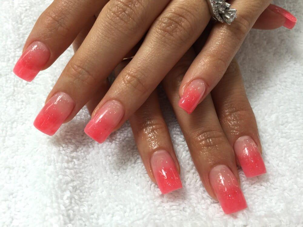 Cute Peach Nail Designs Cute Peach Ombré Design For