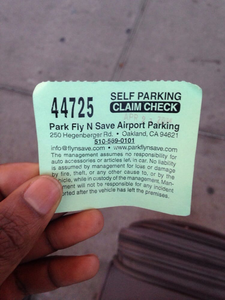 Park fly n save coupon oakland