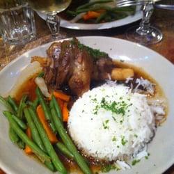 La Menthe - Lyon, France. Souris d'agneau, riz & petits légumes